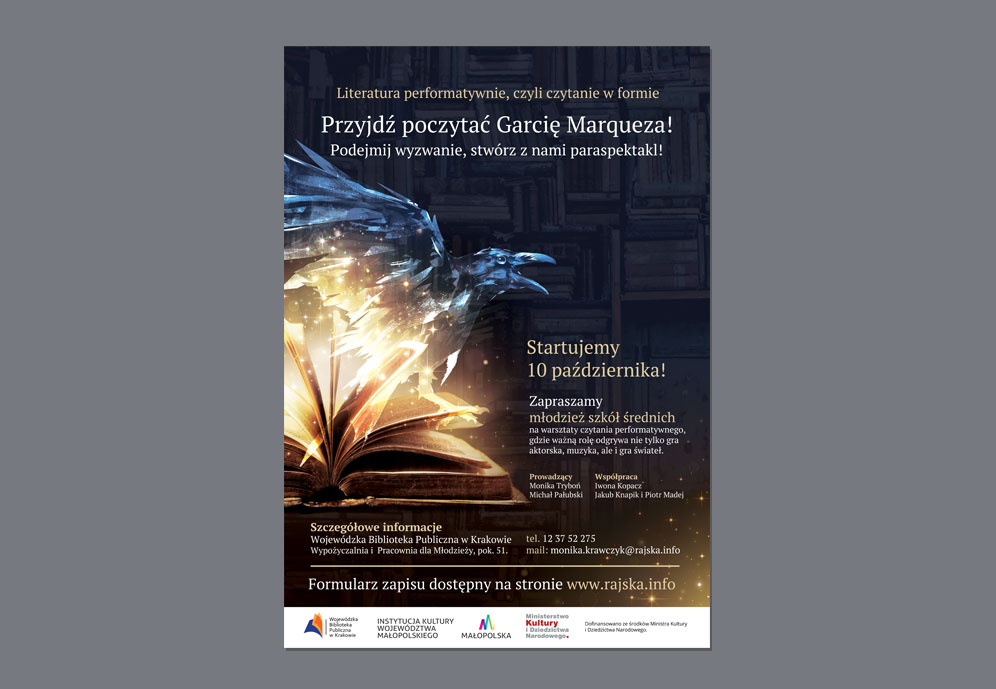 projekt-plakat-b2-biblioteka-marquez