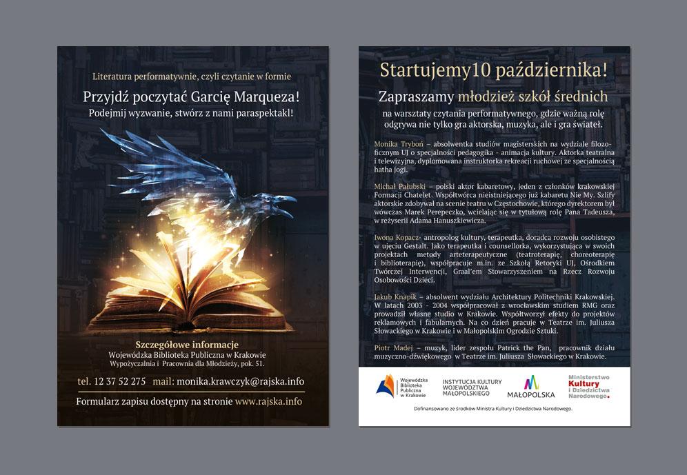 projekt-ulotka-a6-biblioteka-marquez