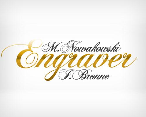engraver projekt logo - Projekty graficzne - logo dla firmy Engraver