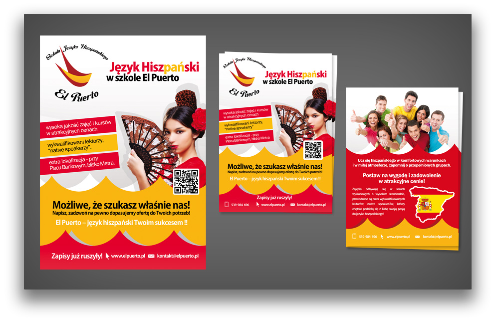 Projekty Graficzne Dla Szkoły Językowej Elpuerto Plakat I