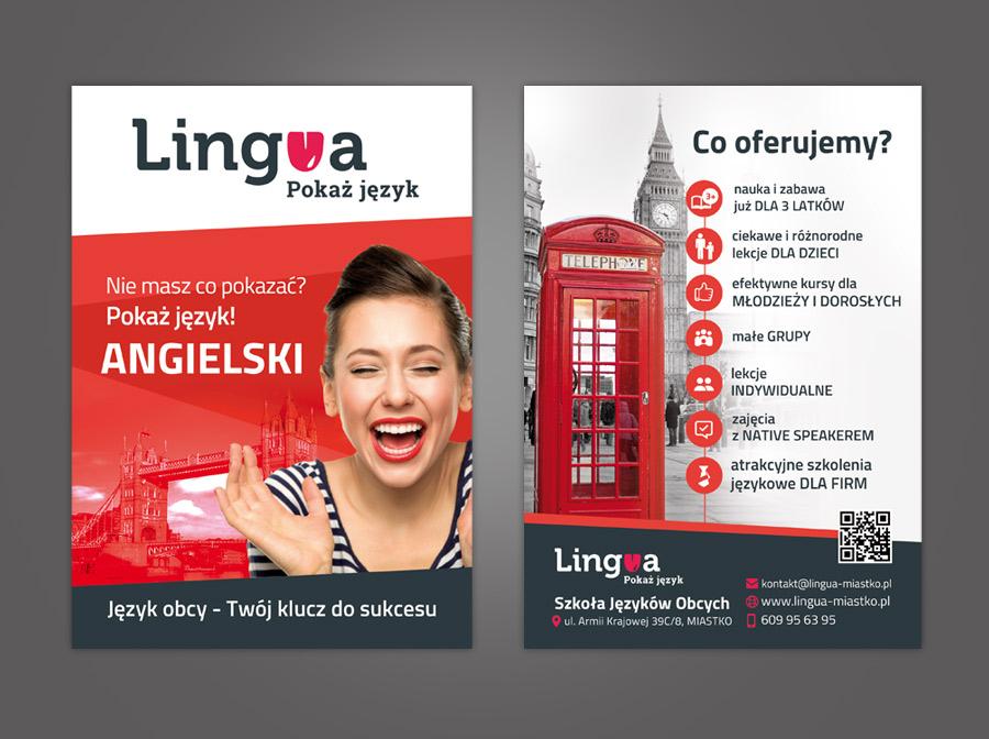 Projekty Graficzne Dla Szkoły Językowej Lingua Grupapns