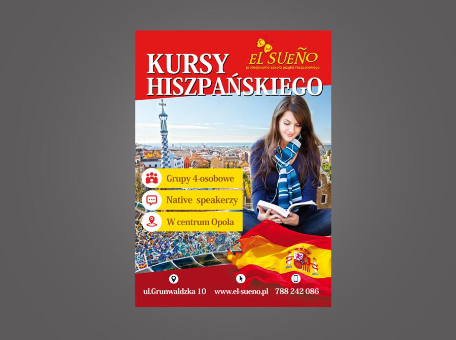 Plakat Reklamowy Szkoła Językowa Elsueno Grupapns
