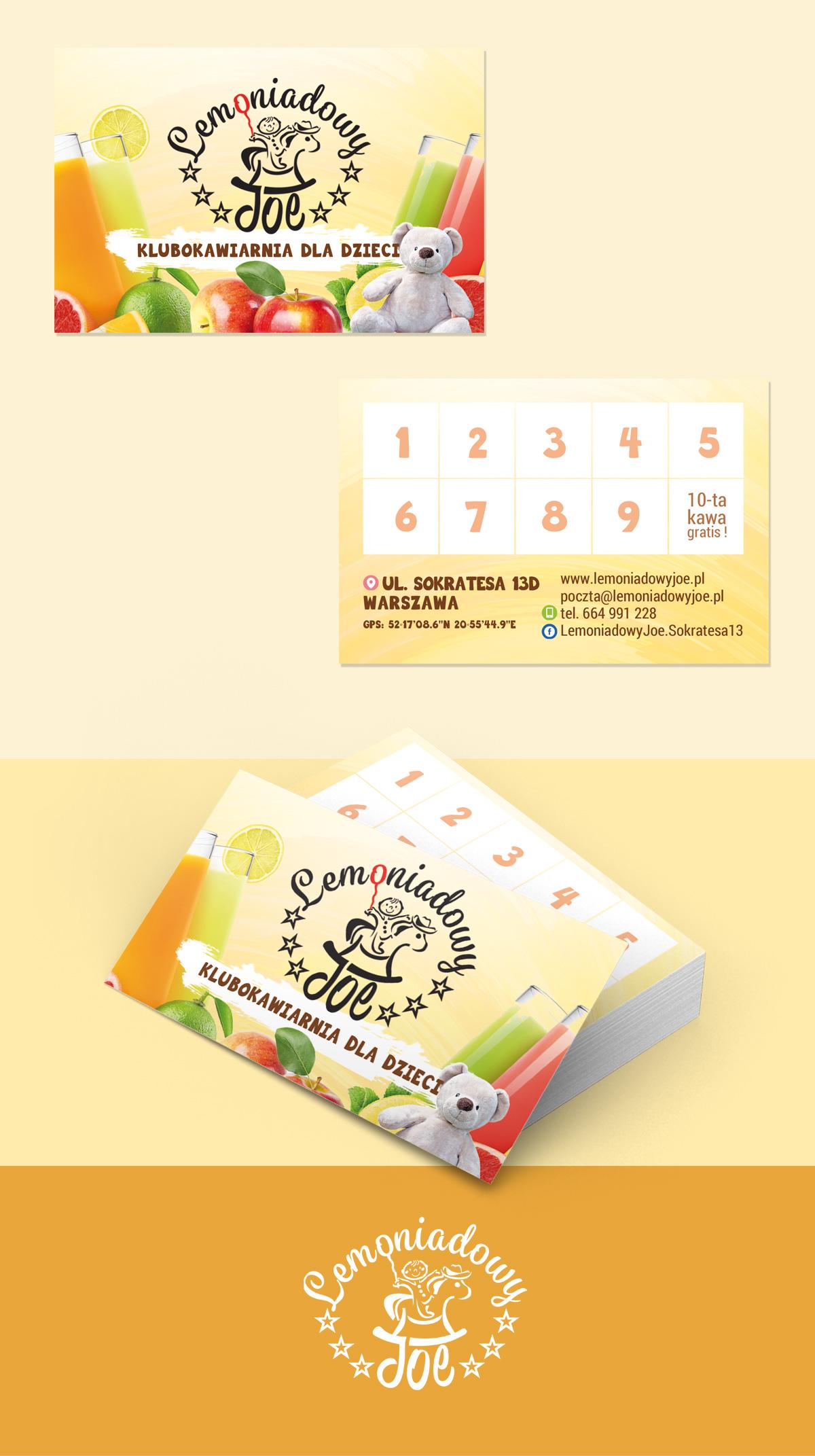 projekt wizytowki dla restauracji lemoniadowy joe - Projekt wizytówki - Lemoniadowy Joe