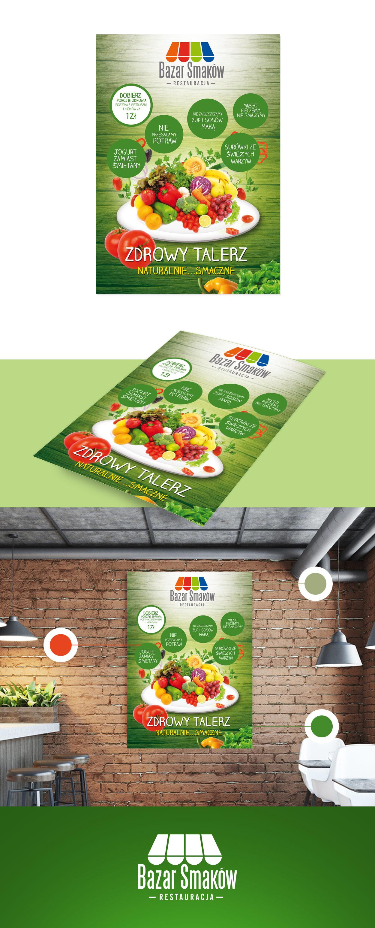 projekt-plakatu-reklamowego-restauracji-bazar-smakow