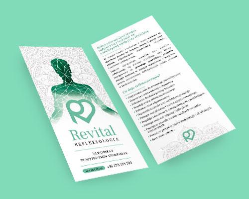 projekt ulotki rekalmowej dl revital refleksologia min - Projekt ulotki reklamowej - Revital Refleksologia