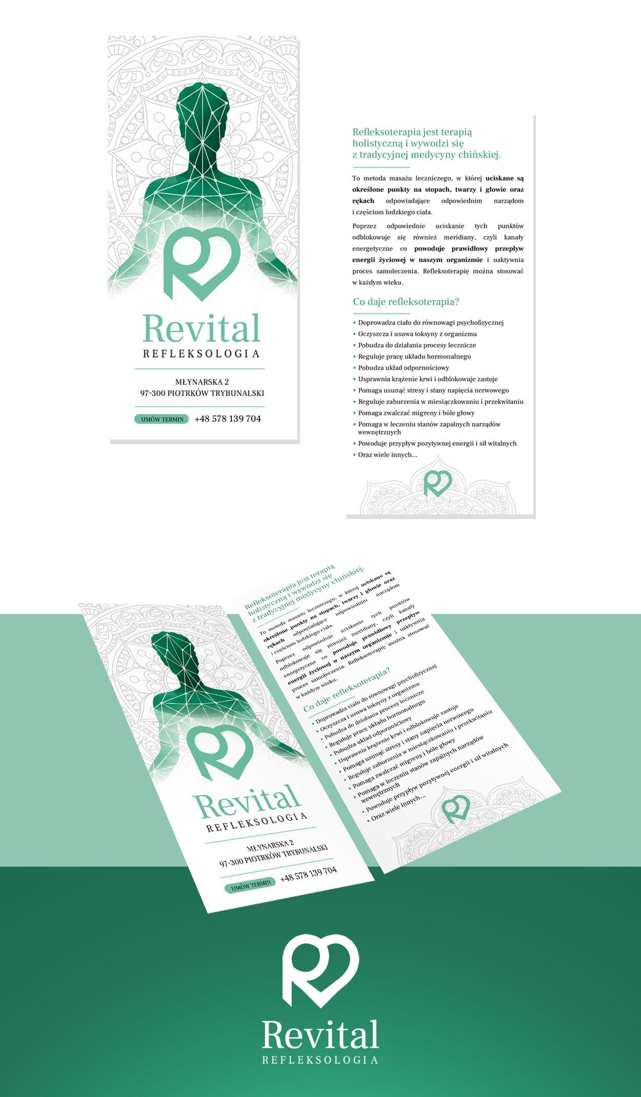 projekt ulotki rekalmowej dl revital refleksologia - Projekt ulotki reklamowej - Revital Refleksologia