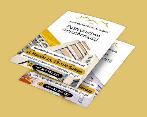 projekt ulotki reklamowej dla biura nieruchomosci kancelaria min - Ulotka dla biura nieruchomości - Kancelaria Nieruchomości