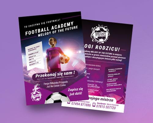 melody ulotka min - Projekt ulotki reklamowej - Football Academy Melody