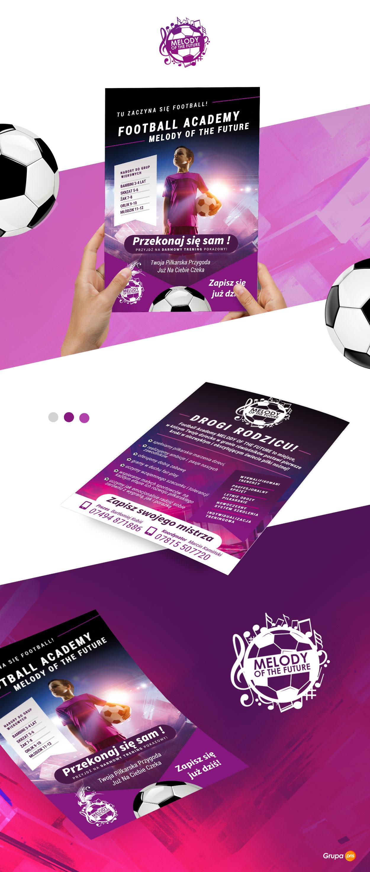 melody ulotka - Projekt ulotki reklamowej - Football Academy Melody