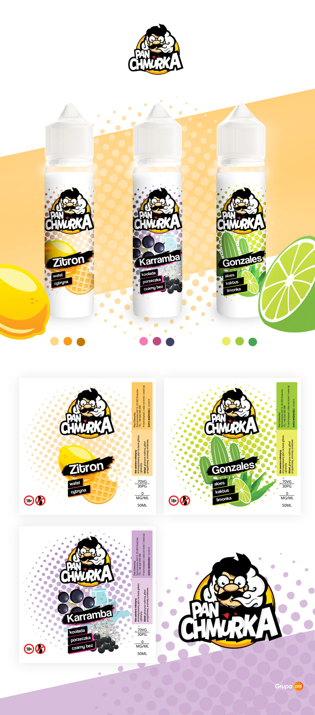 projekt etykiety liquidu pan chmurka - Projekt etykiety liquidu - Pan Chmurka