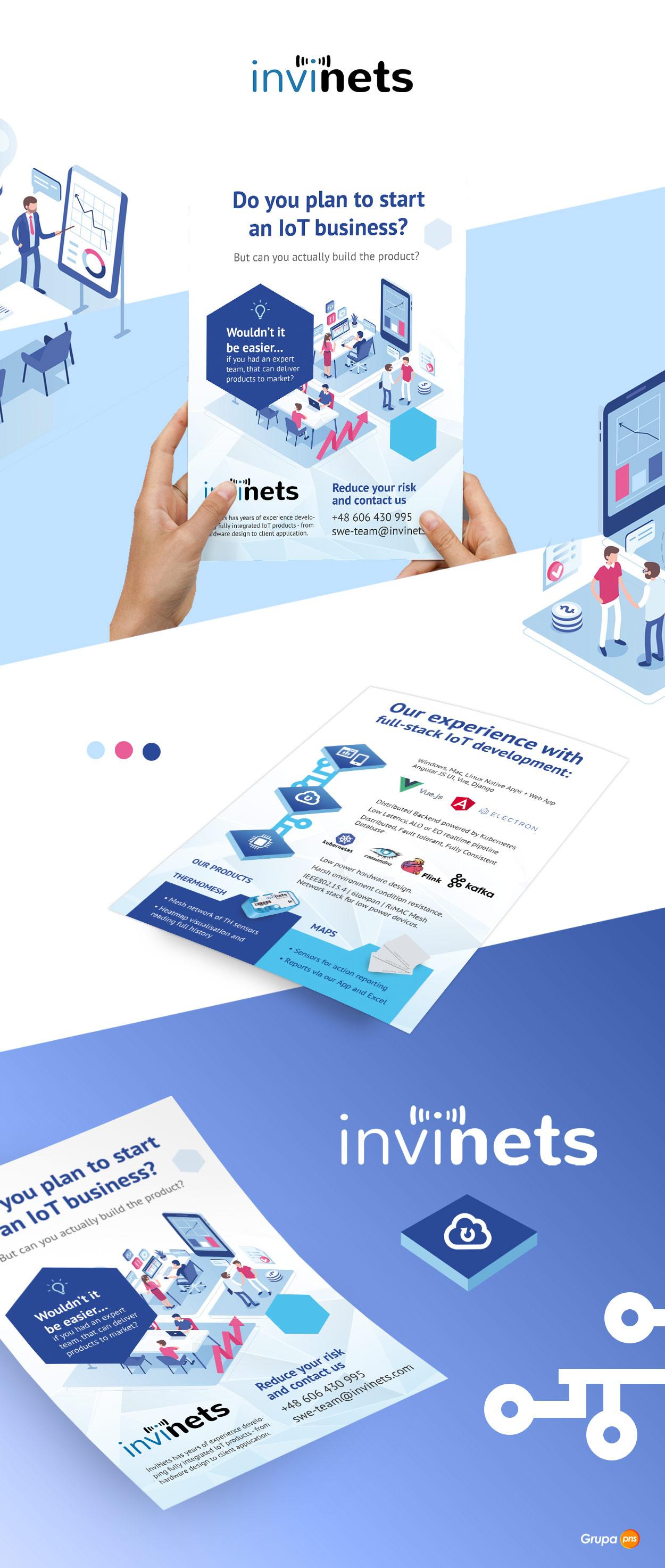 ulotka dla firmy informatycznej targi invinets - Ulotka dla firmy informatycznej - Invinets