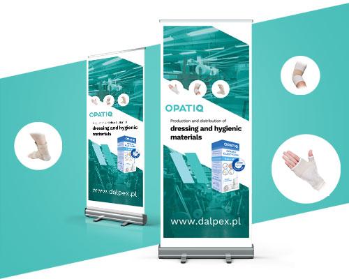 projekt graficzny rollup reklamwy opatiq min - Projektowanie rollupów reklamowych - Opatiq