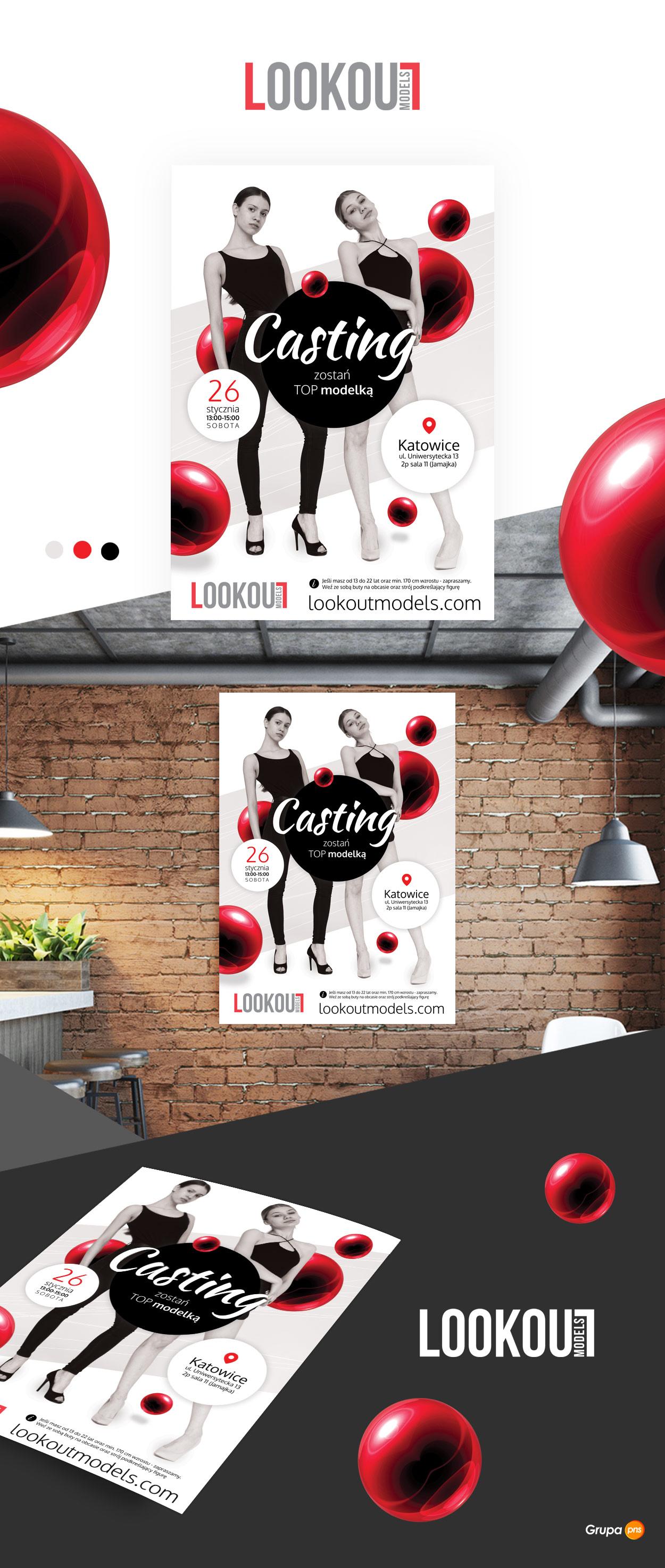 projekt-plakatu-dla-agencji-modelek-lookout