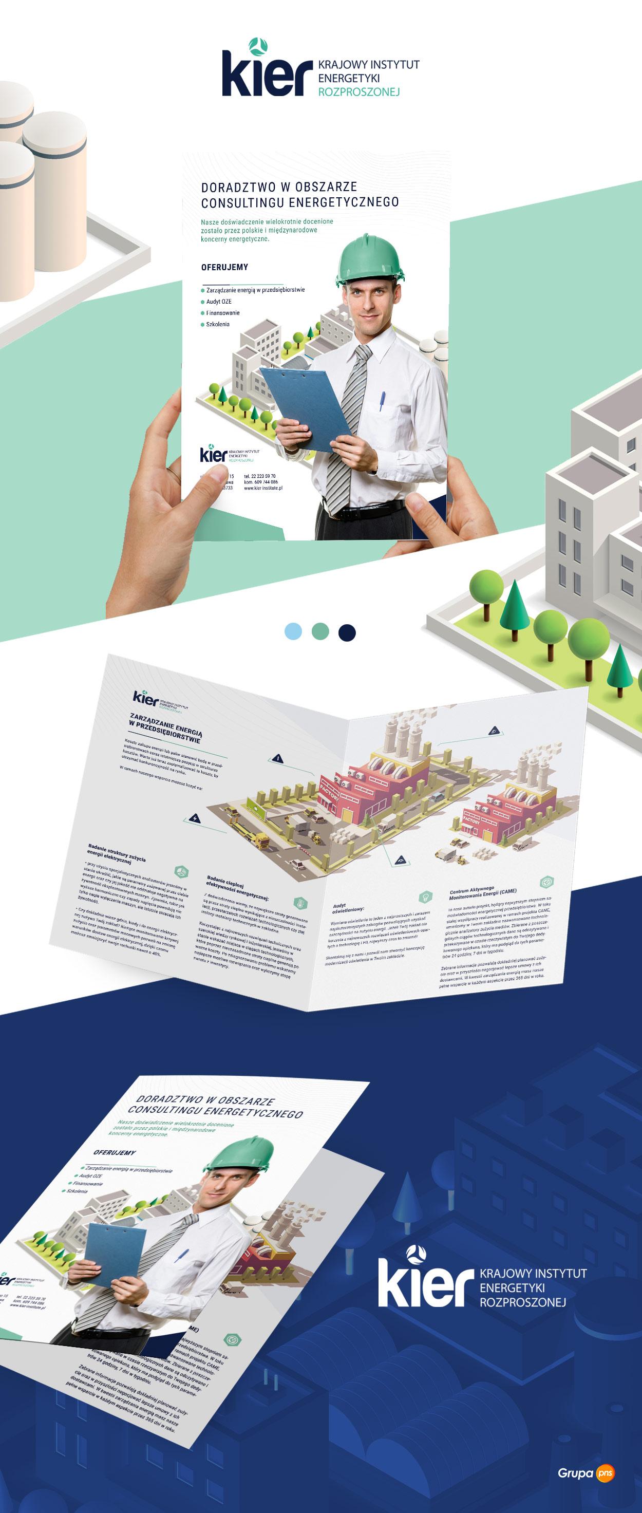 projekt-ulotki-reklamowej-dla-firmy-doradczej-szkoleniowej-kier