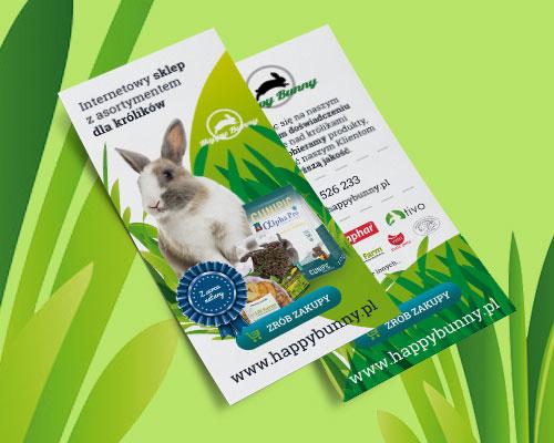 projekt ulotki weterynaryjnej bunny min - Projekt ulotki weterynaryjnej - Happy Bunny
