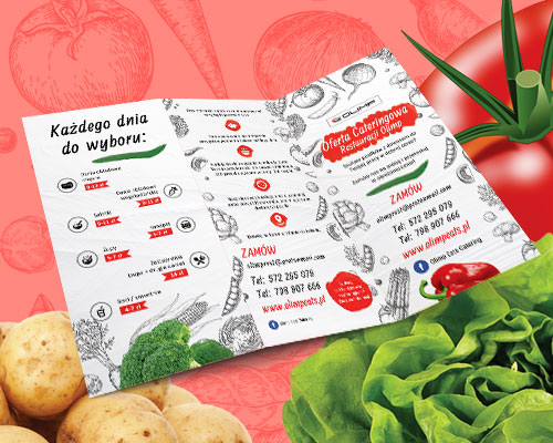 ulotka menu dla restauracji projekt olimp min - Ulotka menu dla restauracji - Olimp