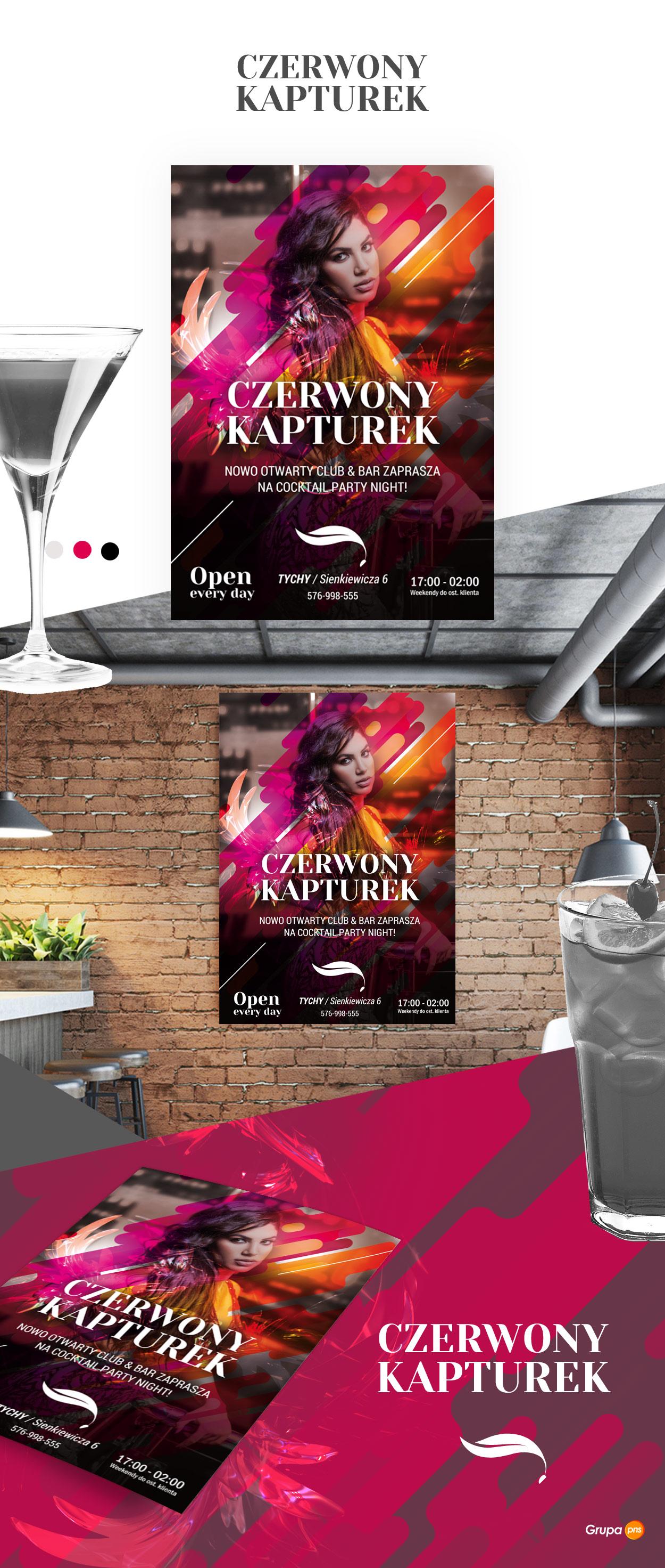projekt-plakatu-reklamowego-klubu-muzycznego-czerwony-kapturek