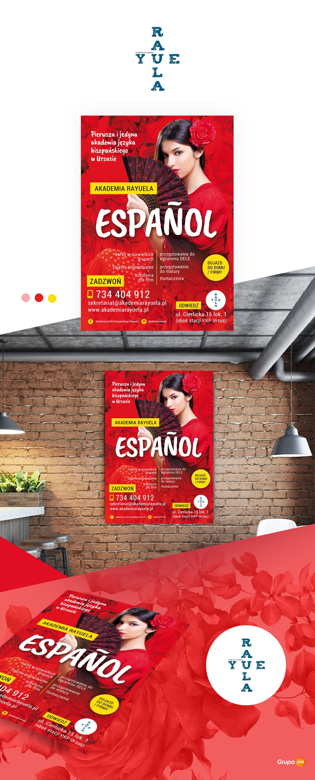 plakat reklamowy dla szkoly jezykowej raula1 - Projekt plakatu reklamowego dla szkoły językowej Raula