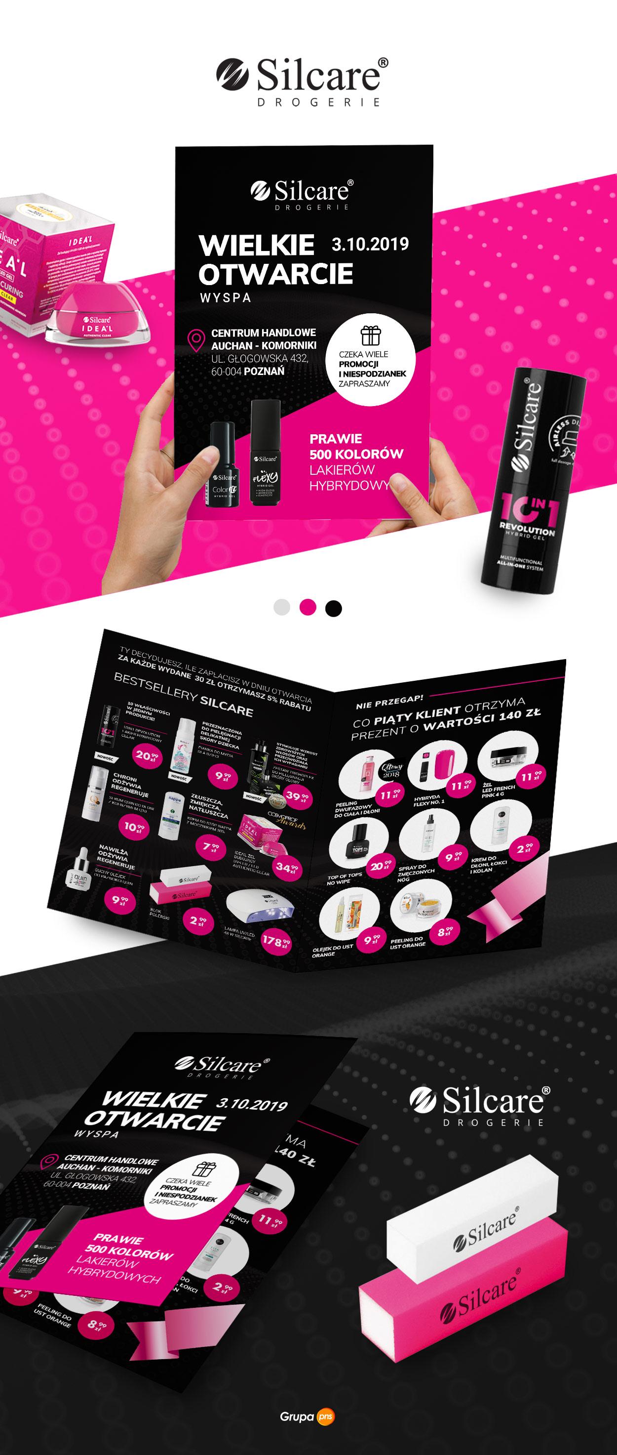 projekt-graficzny-ulotka-reklamowa-producent-kosmetykow-silcare