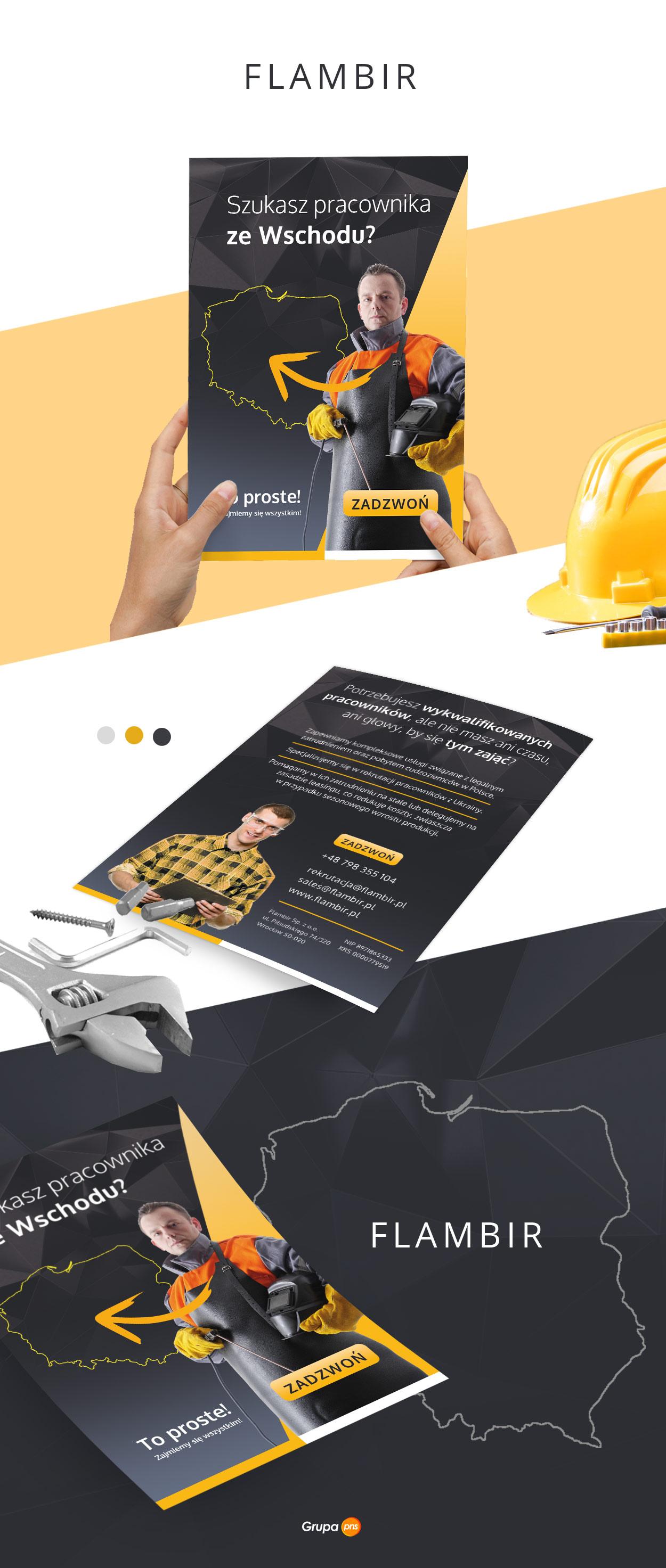 projekt-graficzny-ulotki-firma-rekrutacyjna-flambir