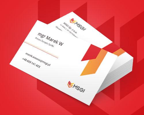projekt wizytowki firmowej msgi min - Projekt wizytówki dla firmy - MSGI