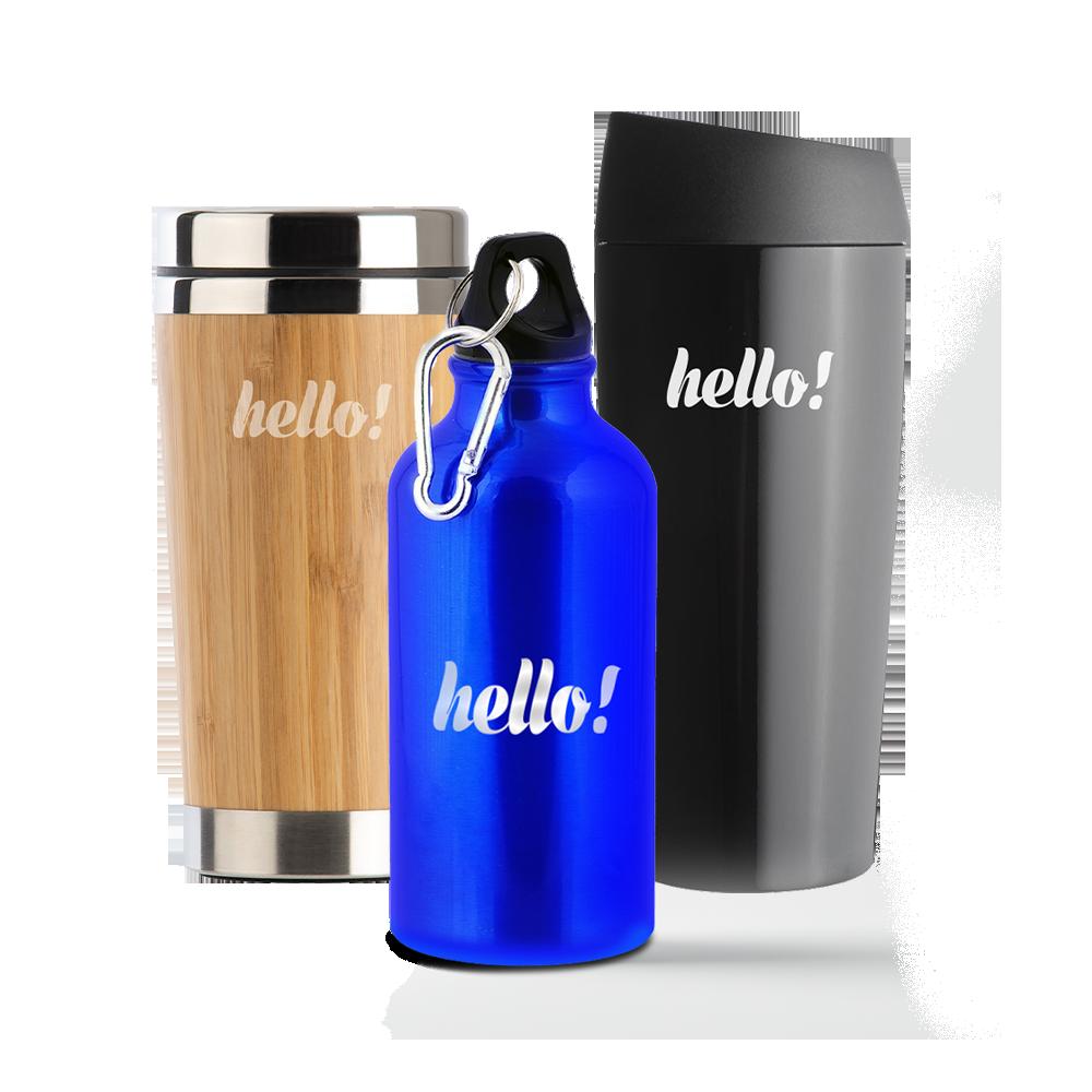 Kubki termiczne i butelki z logo
