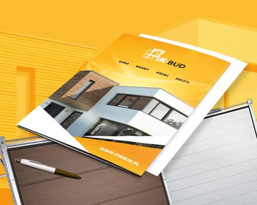 projekt teczki firmowej druk ik bud min - Teczka ofertowa dla sprzedawcy okien i drzwi - PIK-Bud