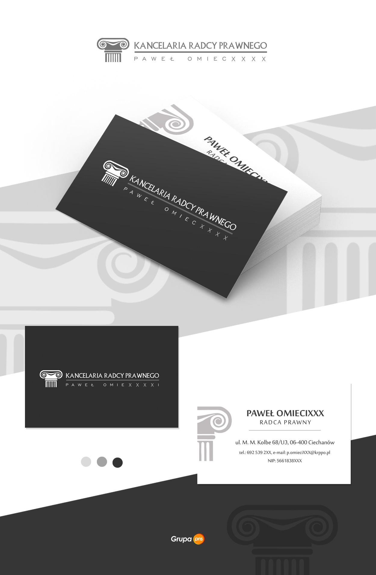 projekt wizytowki dla radcy prawnego pawel o - Projekt wizytówki dla Radcy Prawnego - Kancelaria Paweł O.