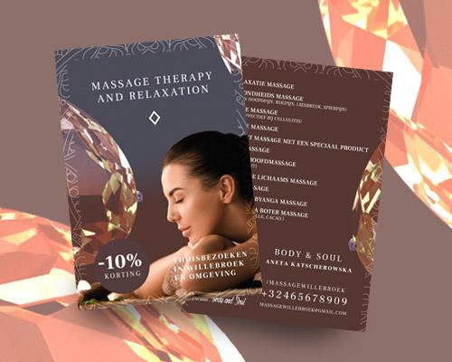 projekt ulotki reklamowej dla salonu masazu beauty soul min - Projekt ulotki dla salonu masażu - Body & Soul