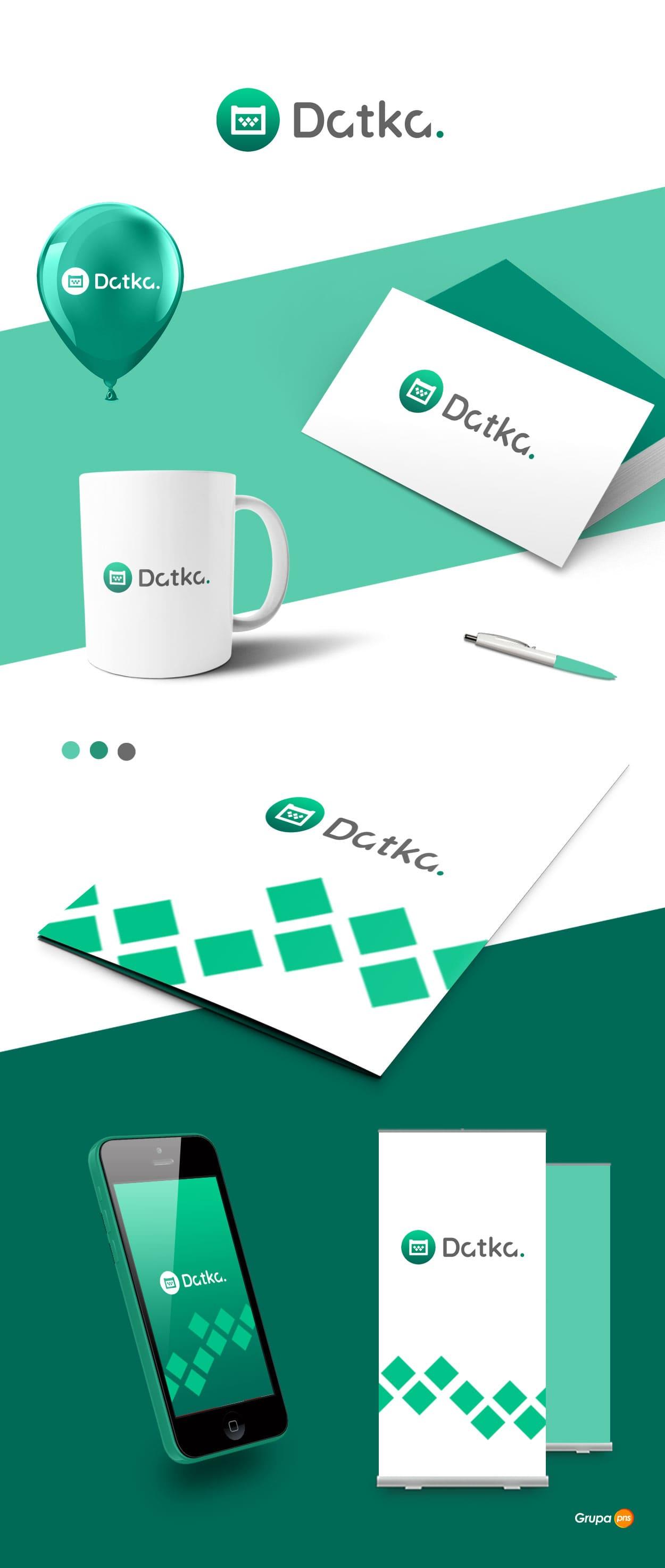 projekt logo dla firmy datka - Projekt logo dla firmy - aplikacja Datka