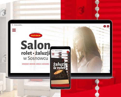 projekt strony internetowej dla salonu sprzedazy rolet patdam min - Strona www dla salonu sprzedaży rolet - PatDam