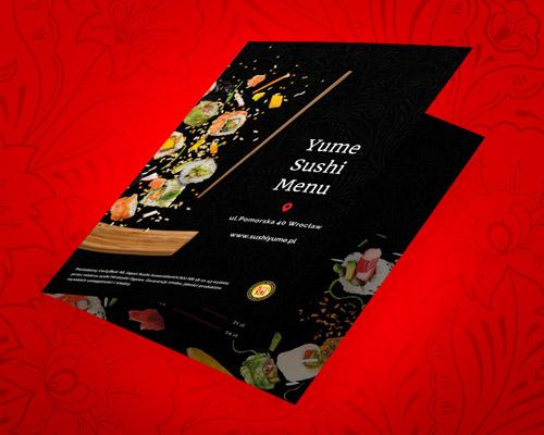 projekt graficzny menu dla restauracji yume sushi - Projekt graficzny menu dla restauracji - Yume Sushi