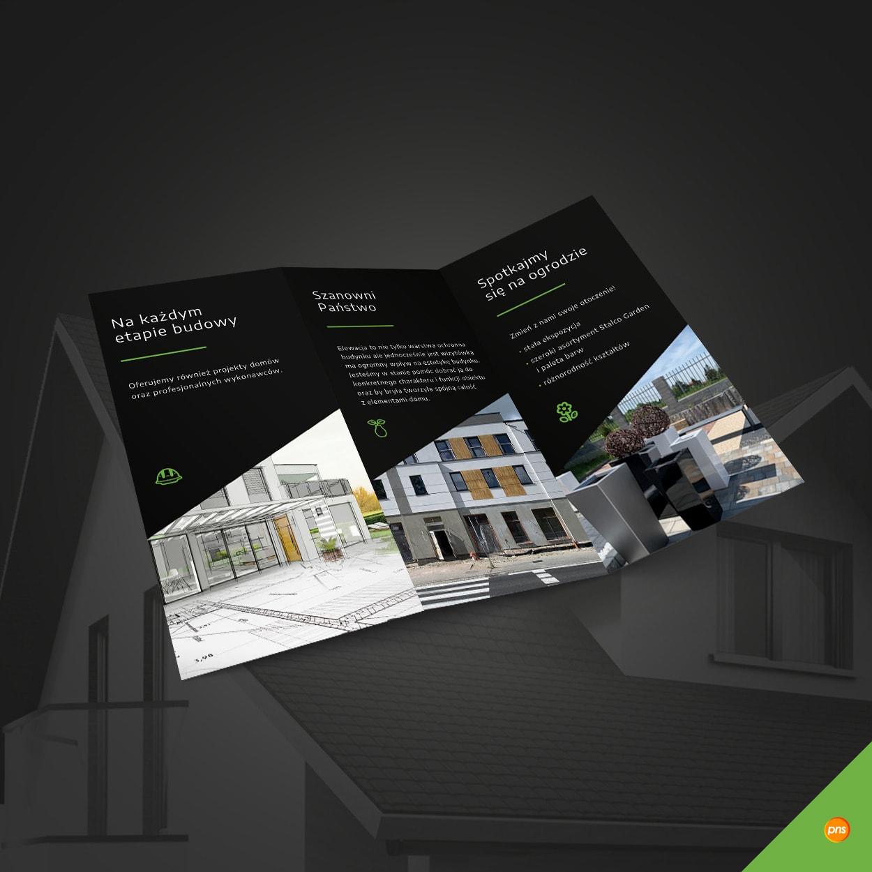 projekt graficzny ulotki dl firma budowlana nula 2 - Projekt ulotki reklamowej dla hurtowni budowlanej - Nula