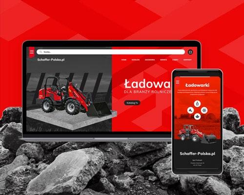 projekt strony internetowej dla katalogu pojazdow schaffer polska pl min - Projekt strony internetowej dla dystrybutora ładowarek - schaffer-polska.pl