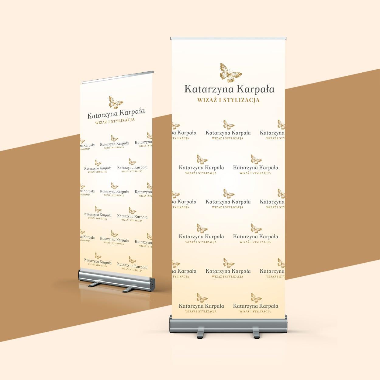 projekt graficzny rollup dla kosmetyczki karpala - Projekt rollupu dla wizażystki - Karpała