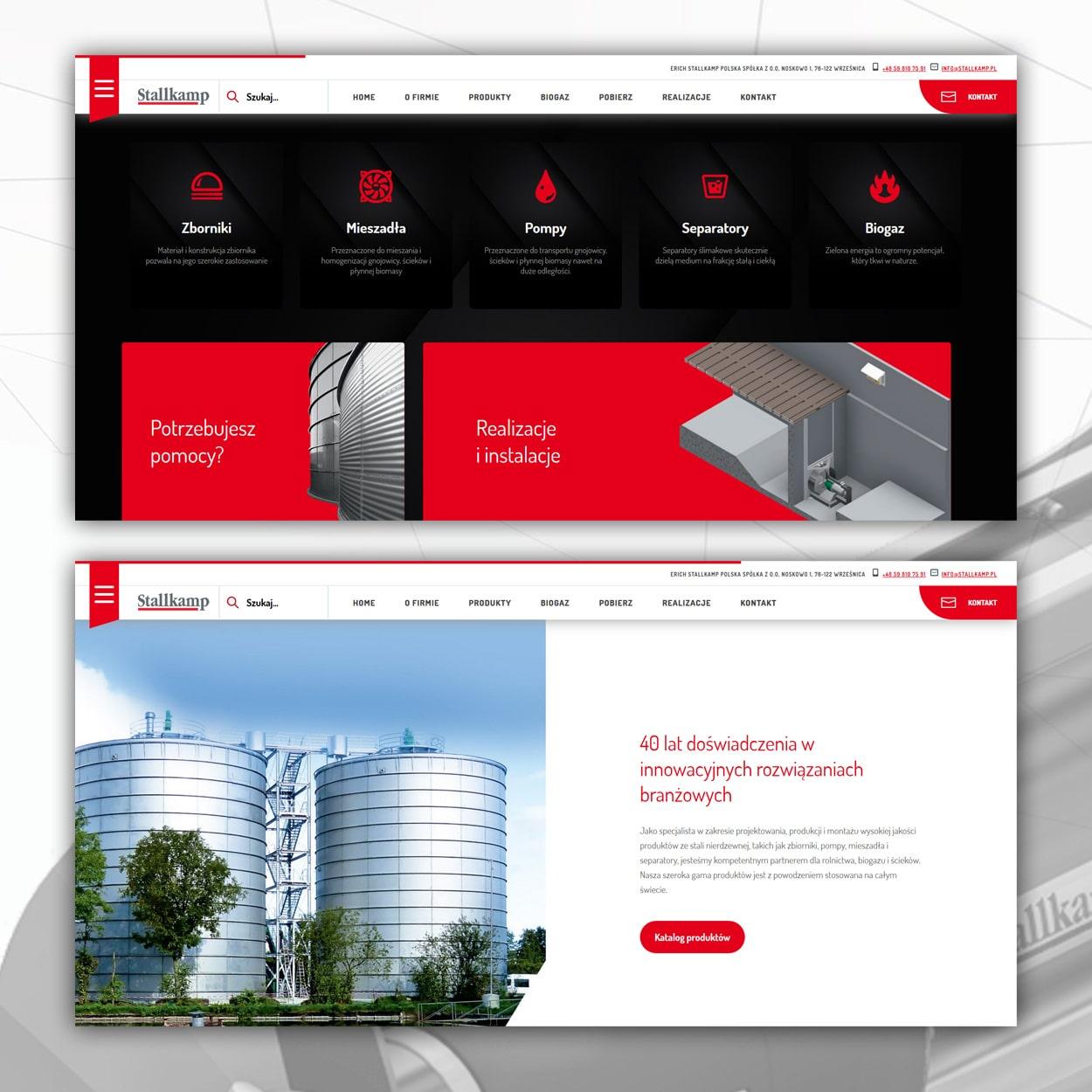 projektowanie stron www dla firmy technicznej 2 - Strona internetowa dla firmy technicznej - Stallkamp.pl
