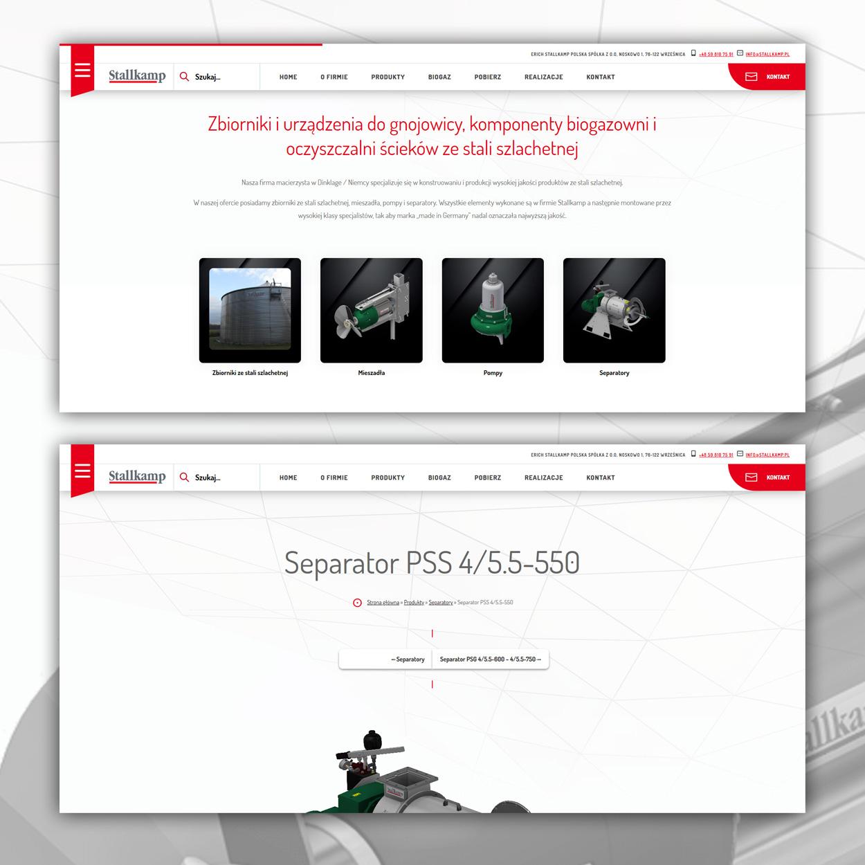 projektowanie stron www dla firmy technicznej 31 - Strona internetowa dla firmy technicznej - Stallkamp.pl