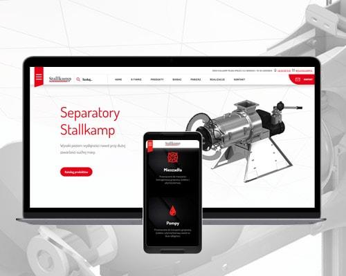 projektowanie stron www dla firmy technicznej min - Strona internetowa dla firmy technicznej - Stallkamp.pl
