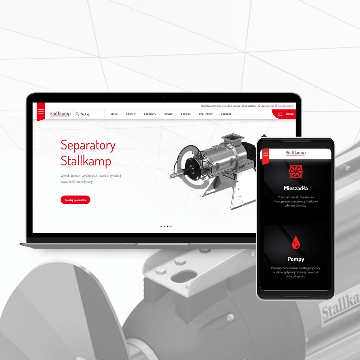 projektowanie stron www dla firmy technicznej - Strona internetowa dla firmy technicznej - Stallkamp.pl