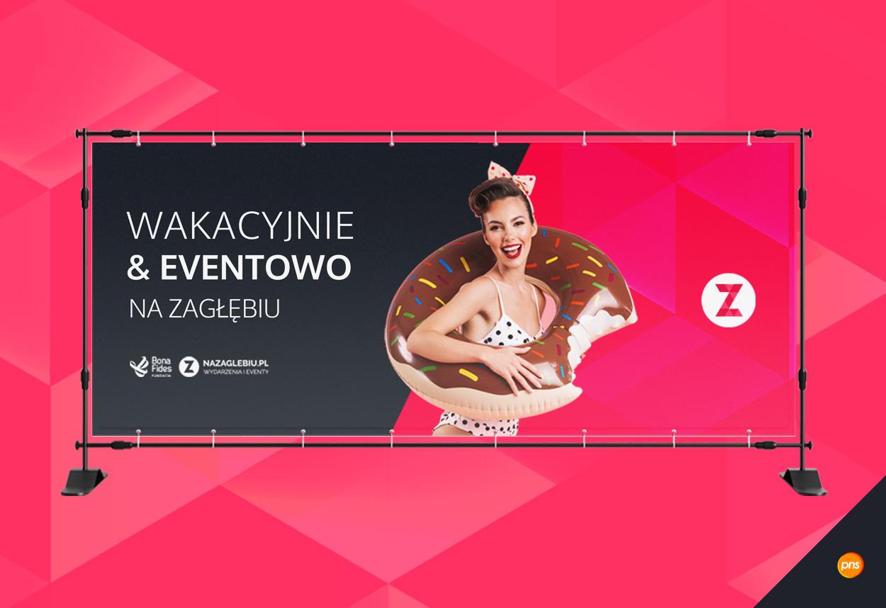 projekt graficzny baneru reklamowego nazaglebiu wakacje - Projekt baneru reklamowego - NaZaglebiu.pl