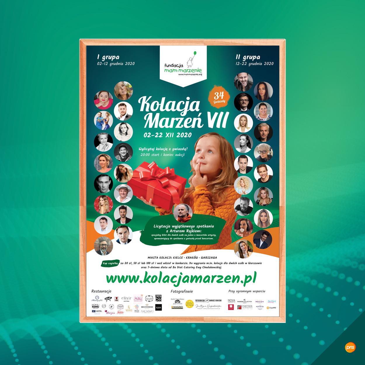 projekt plakatu event kolacja marzen 2020 - Projekt plakatu na wydarzenie - Kolacja Marzeń VII