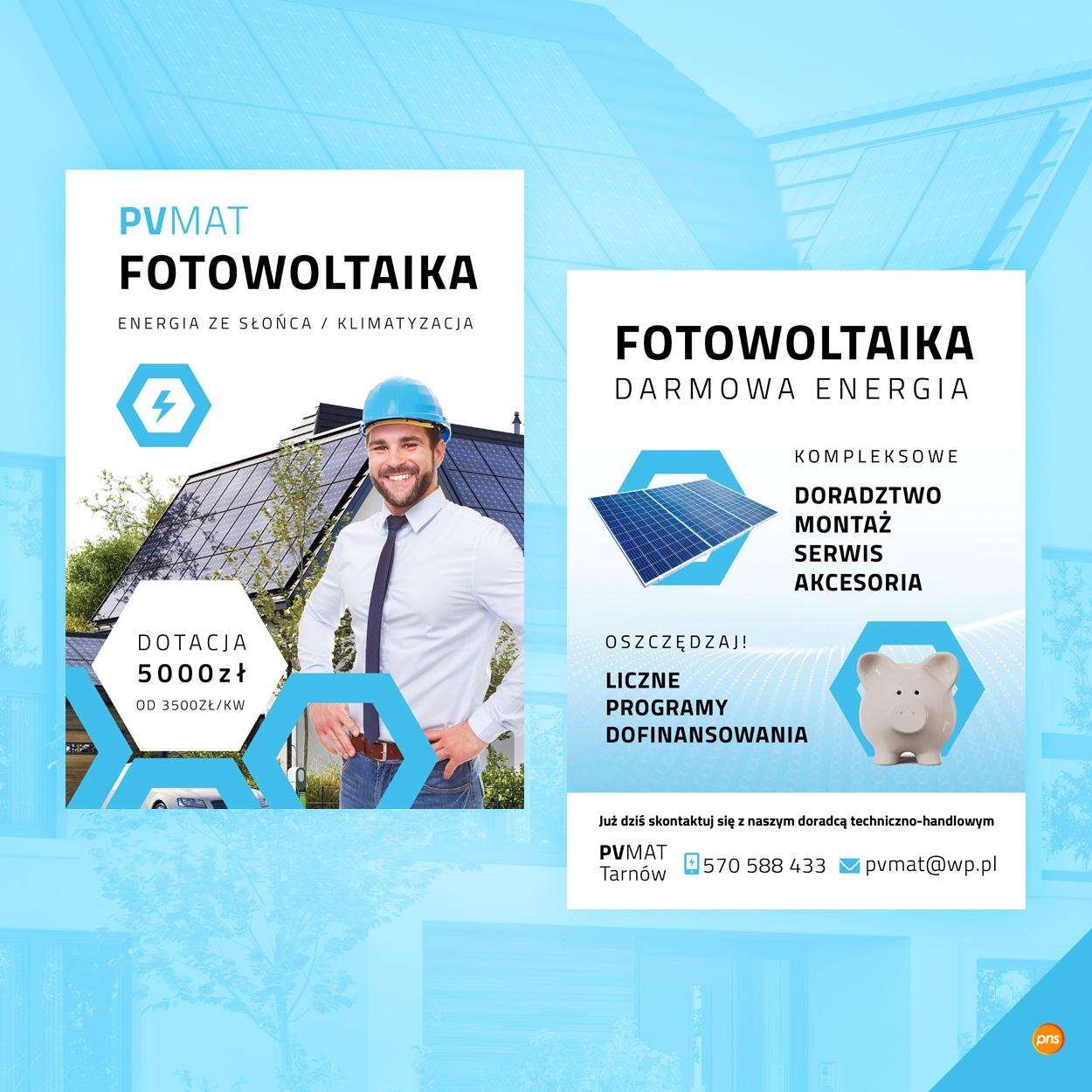 projekt ulotki fotowoltaika pv mat 2 - Projekt ulotki fotowoltaika - realizacja dla PV Mat
