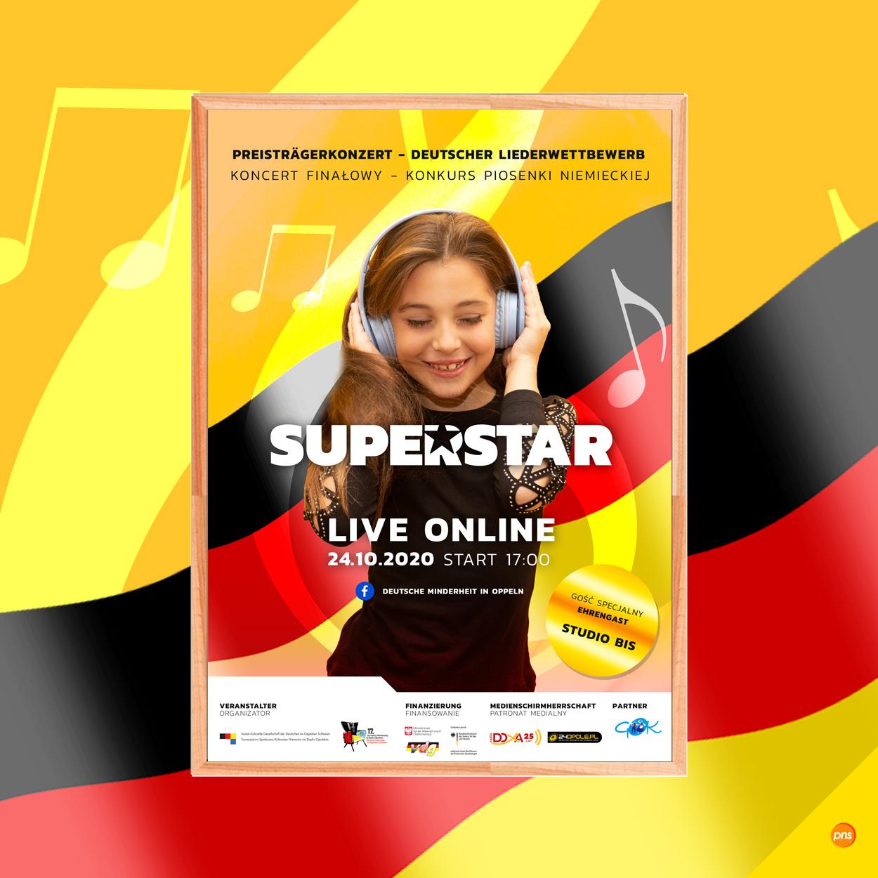 projekt graficzny plakatu event superstar - Projekt plakatu na wydarzenie - Superstar
