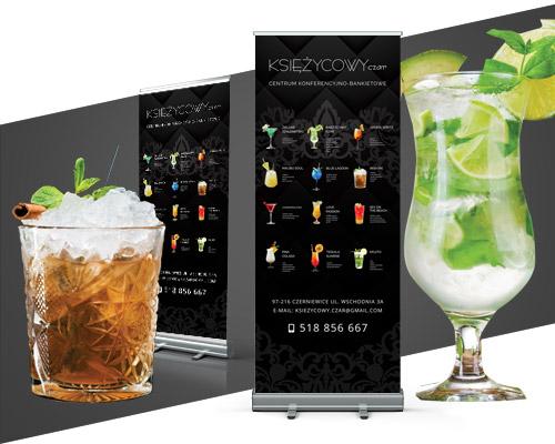 projekt graficzny rollup dla restauracji drinki ksiezycowy min - Projekt graficzny rollupu dla restauracji - Księżycowy Czar