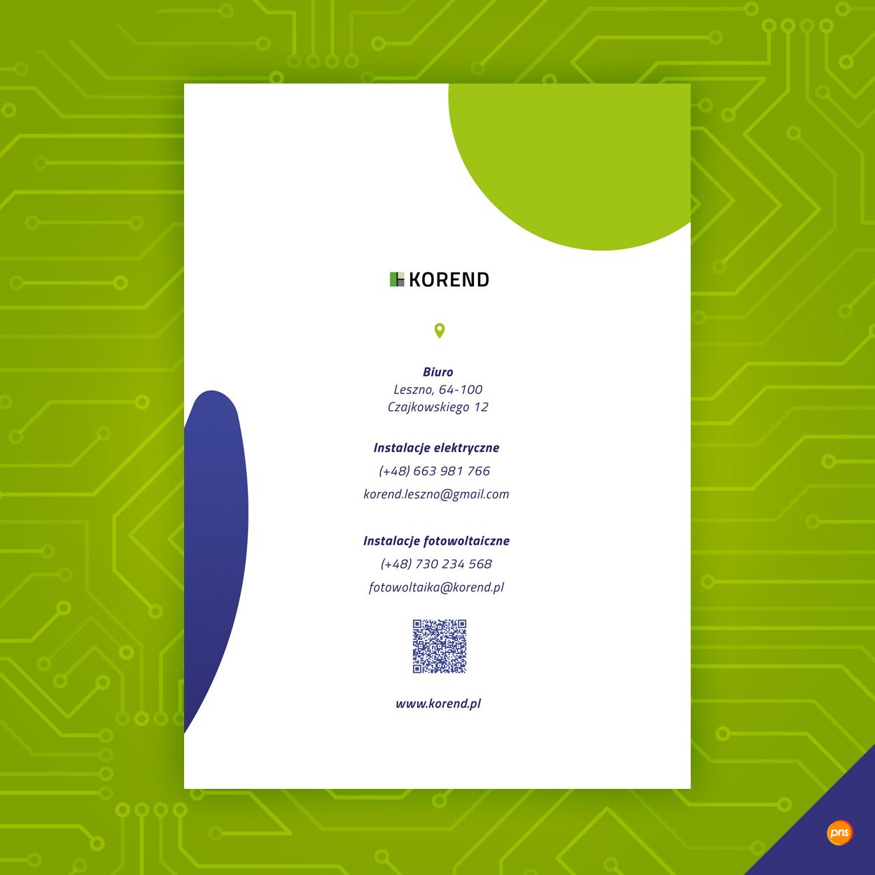 projekt graficzny teczka na dokumenty fotowoltaika korend 3 - Projekt graficzny teczki firmowej fotowoltaika - Korend