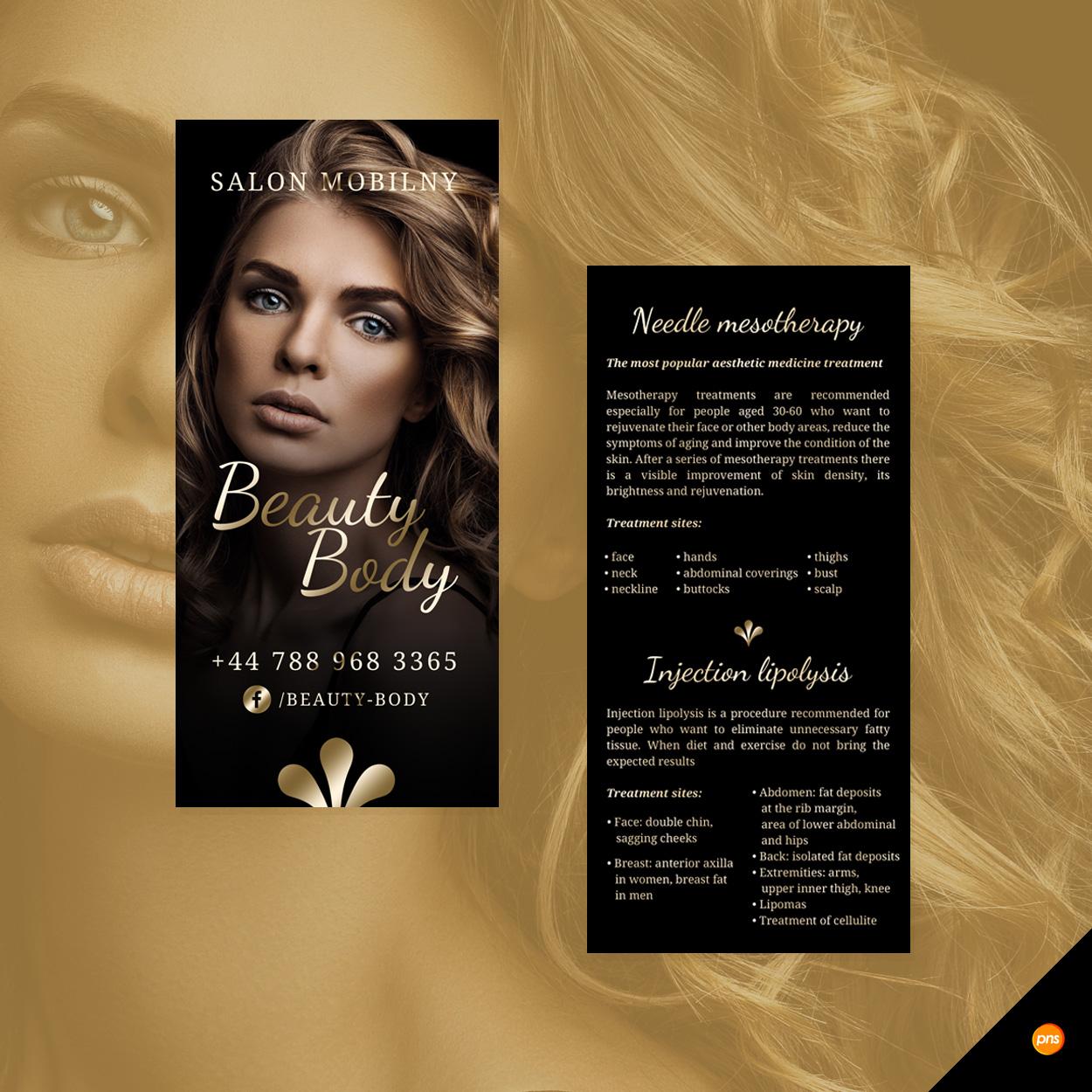projekt ulotka dl salon kosmetyczny beauty body - Projekt ulotki dla salonu urody - Beauty Body
