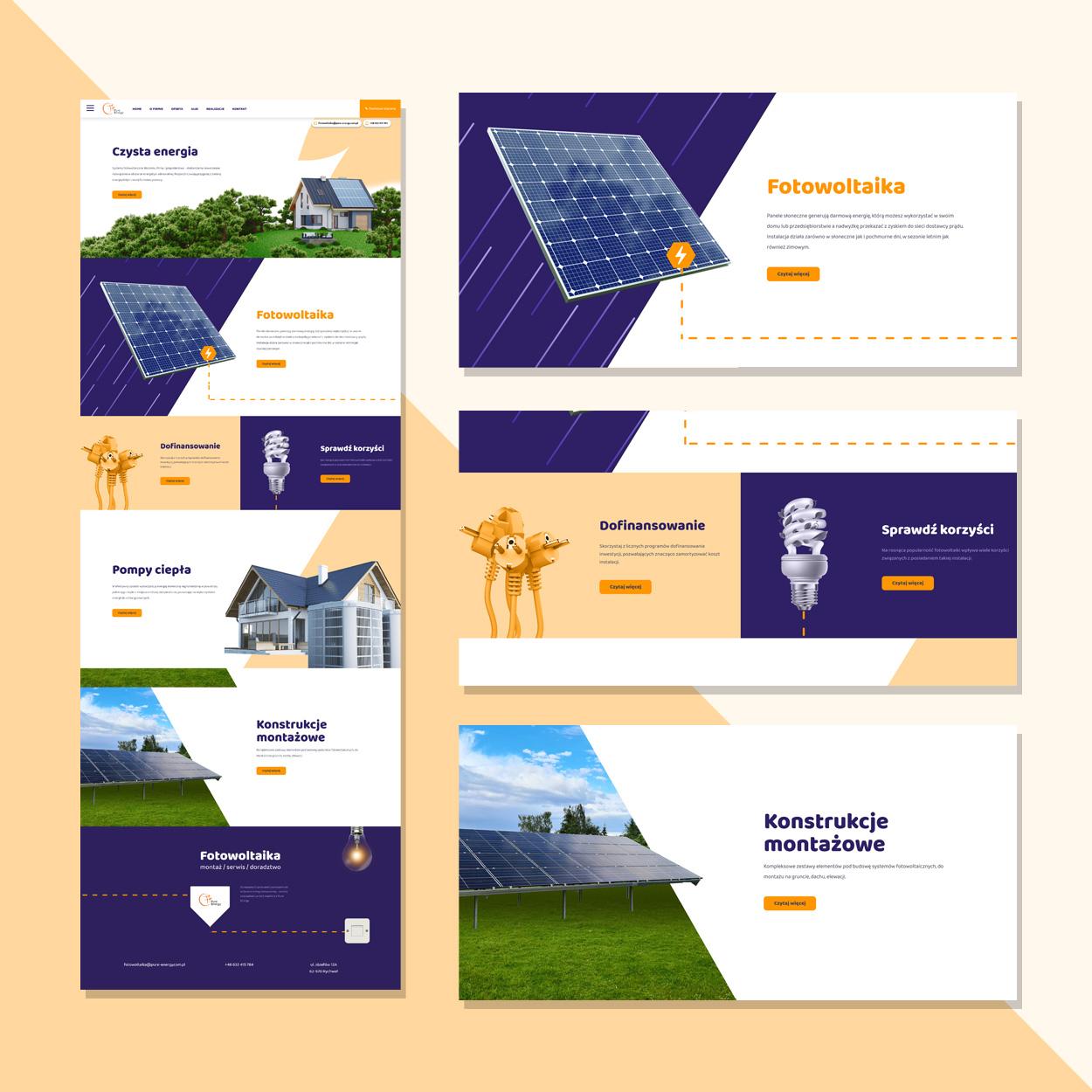 projektowanie strona www dla firmy fotowoltaika pv pure energy 2 - Strona internetowa dla firmy fotowoltaika / OZE - Pure Energy