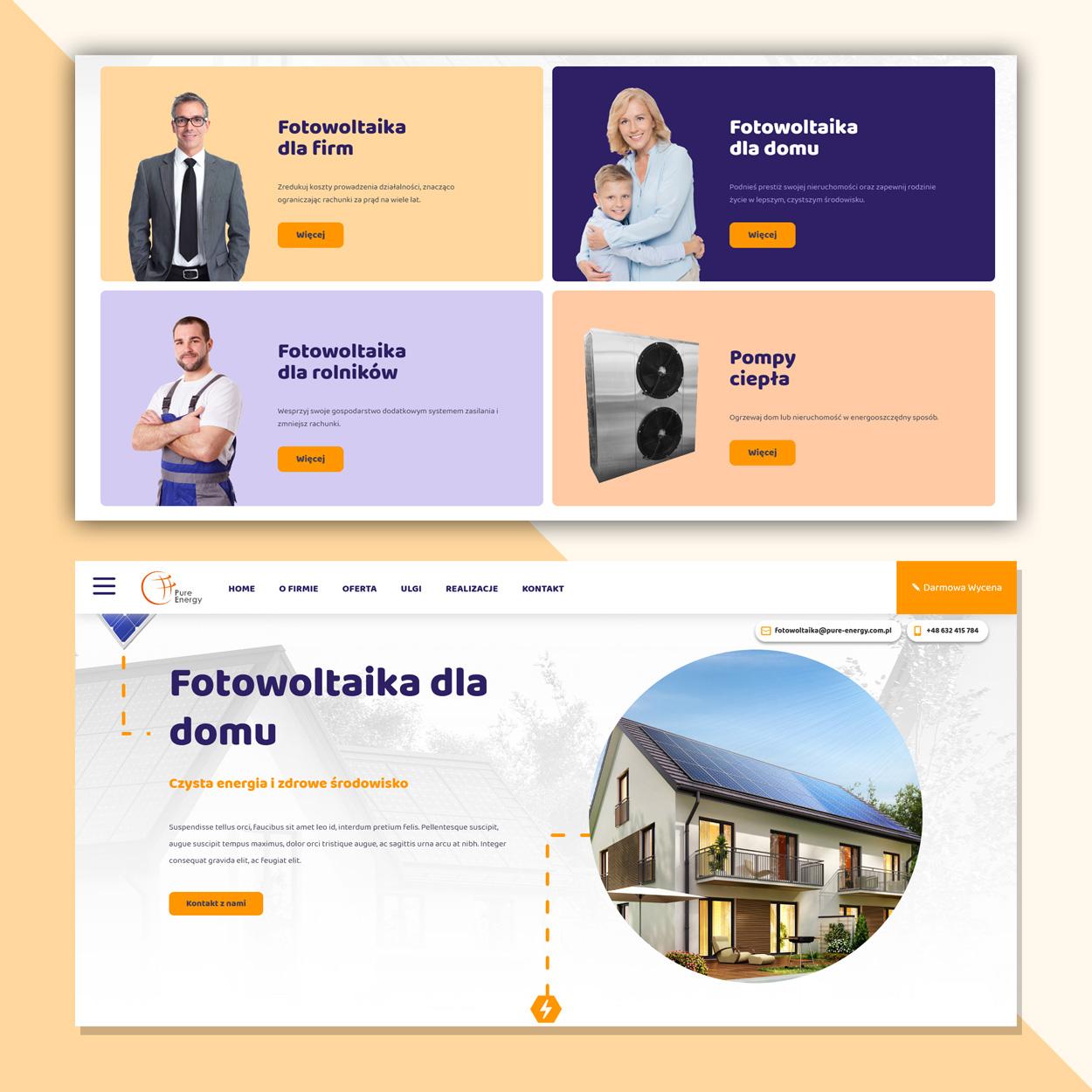 projektowanie strona www dla firmy fotowoltaika pv pure energy 3 - Strona internetowa dla firmy fotowoltaika / OZE - Pure Energy