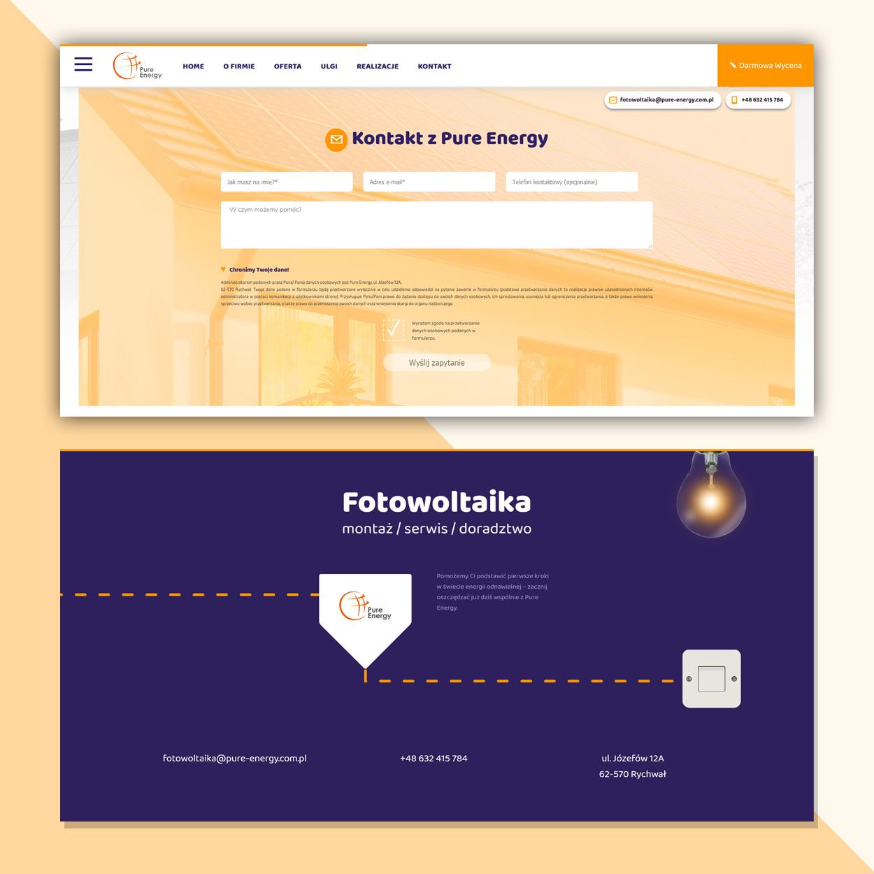 projektowanie strona www dla firmy fotowoltaika pv pure energy 4 - Strona internetowa dla firmy fotowoltaika / OZE - Pure Energy