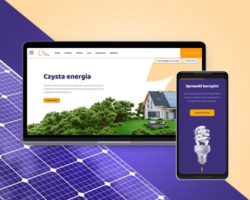 projektowanie strona www dla firmy fotowoltaika pv pure energy min - Strona internetowa dla firmy fotowoltaika / OZE - Pure Energy